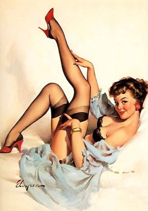 Gil Elvgren, pin-up, 1959.