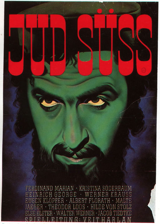 Affiche du Juif Suss, Veit Harlan, 1940.