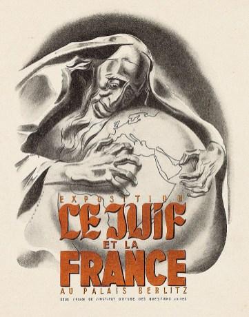 Affiche Le Juif et la France, 1941.