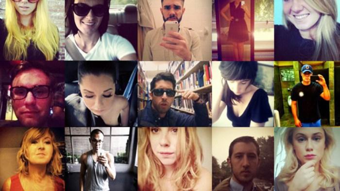 15. Sélection de selfies anonymes, illustration de l'article de Mashable, 2013.