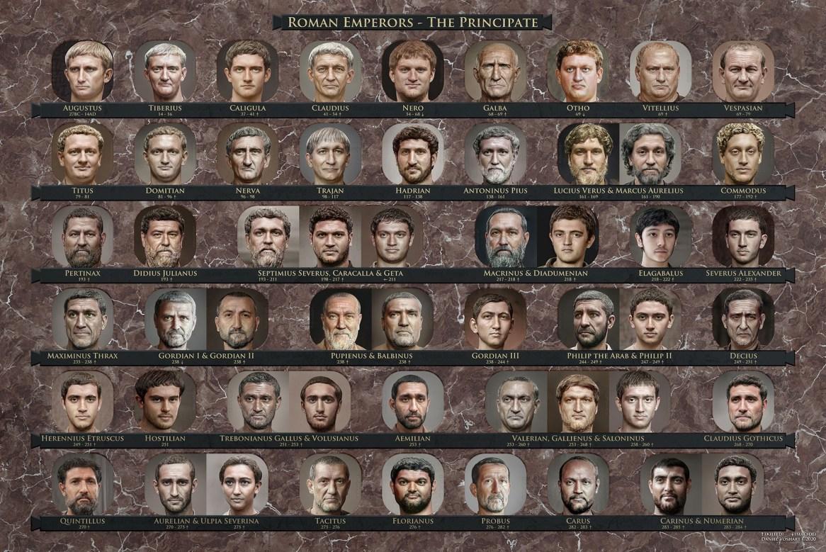 Daniel Voshart, portraits des empereurs romains, 2020.