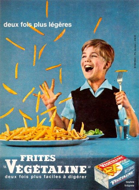 Publicité Végétaline, 1961.