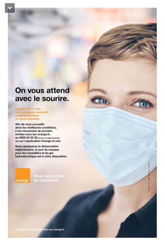 Publicité Orange, mai 2020.