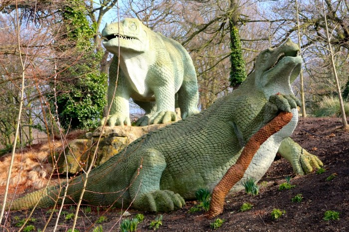 Groupe de dinosaures, Sydenham, 2009 (photo AG).