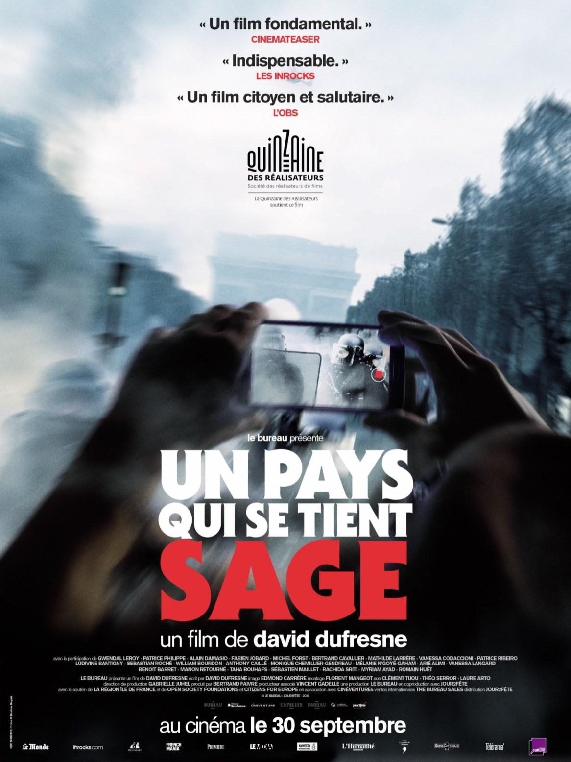 David Dufresne, Un Pays qui se tient sage, 2020.