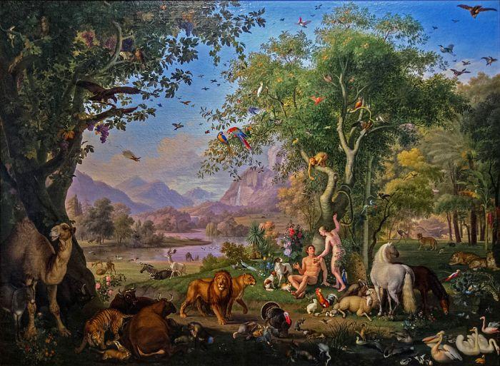 Peter Wenzel, Adam et Ève au Paradis Terrestre (Vatican).