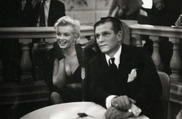 Marilyn Monroe & Laurence Olivier at a Press Conference at the Plaza Hotel, (9)