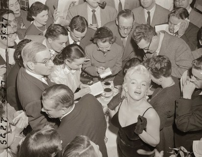 Marilyn Monroe & Laurence Olivier at a Press Conference at the Plaza Hotel,