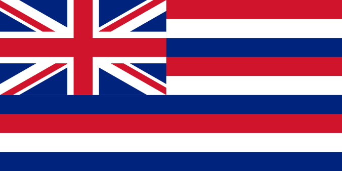 1816-1843 Flag of Hawaii , Ka hae Hawaiʻi as observed by Louis Choris