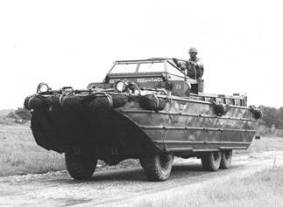 A DUKW, in use by American troops in France
