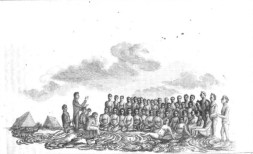 A_Missionary_Preaching_to_Hawaiians_on_the_lava_at_Kokukano,_Hawaii,_sketch_by_William_Ellis-1822-24