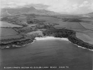 Aerial view of Lawai Beach, Kauai-(HSA)-PPWD-10-6-007-1929