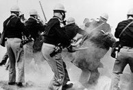 Alabama state troopers attack civil-rights demonstrators outside Selma, Alabama, on Bloody Sunday, March 7, 1965