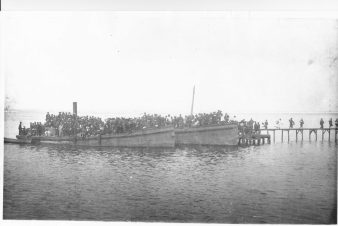 Arrival of Japanese contract laborers at Honolulu Harbor-1893