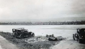 Awaiting expected arrival of first plane to land on Hilo Field, January 30, 1928 (plane did not arrive this date)