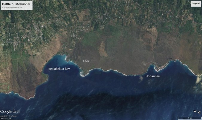 Battle of Mokuohai - Kealakekua to Honaunau-GoogleEarth