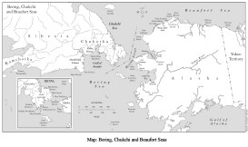 Bering, Chukchi and Beaufort Seas-Map