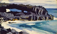 Black Lava Bridge, Hana Coast No. 1-1939, by Georgia O'Keeffe