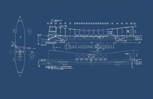 Blueprint-Arizona Memorial