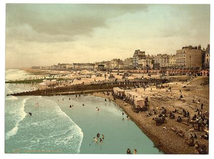 Brighton Beach-UK-from_the-Pier-LOC-1890