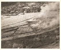 Burning off a field of sugarcane, Aiea, Oahu, TH-Aug 1, 1932-Babcock
