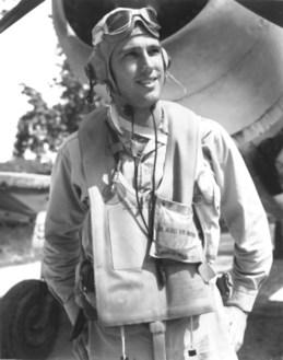 CARL-Marion-E.-Major-USMC-with-Vought-F4U-Corsair-1943