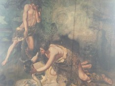 Cain and Abel-with great anguish and violence