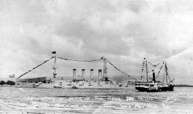 California at anchor Pearl Harbor-Dec 14, 1911