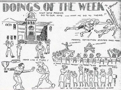 Cartoon from the Nov. 08, 1932 issue of Ka Punahou-Punahou