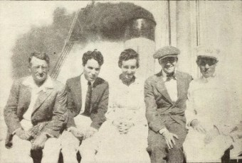 Charlie Chaplin en route to Hawaii 1917