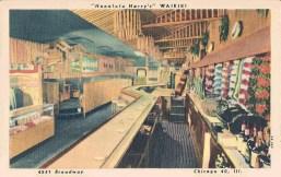 Chicago - Honolulu Harry's Waikiki - 4541 Broadway - Interior - 1950