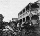 Chun Afong's house in Honolulu built in the Western and Chinese styles in the 1850s and torn down in 1902-(WC)