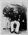 Colonel G. W. Macfarlane, King Kalakaua, Major R. H. Baker-aboard_the_U.S.S._Charleston_(PP-96-13-002)-1890
