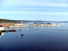 Concrete Floating Breakwater-Powell River in British Columbia, Canada-Campbell