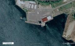 Concrete Fuel Barge as Wharf Yaquina Bay, Newport, Oregon-2005