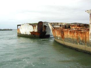Concrete Fuel Barges as Breakwater-Kiptopeke, Virginia-Rooney