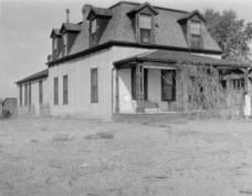 Corner of adobe house occupied by Jim Bridger and John Hunton, 1867, Fort Laramie, Wyo