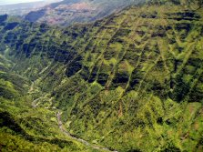Aerial of Olokele Valley, Kauai