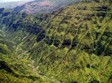 Aerial of Olokele Valley, Kauai