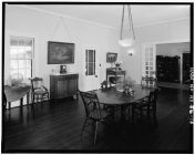DINING ROOM, LOOKING SOUTHEAST, DOOR IN CENTER GOES TO LANAI AND COOK HOUSE-LOC