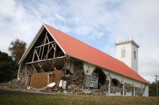 Damage to Kalahikiola Church in 2006 earthquake