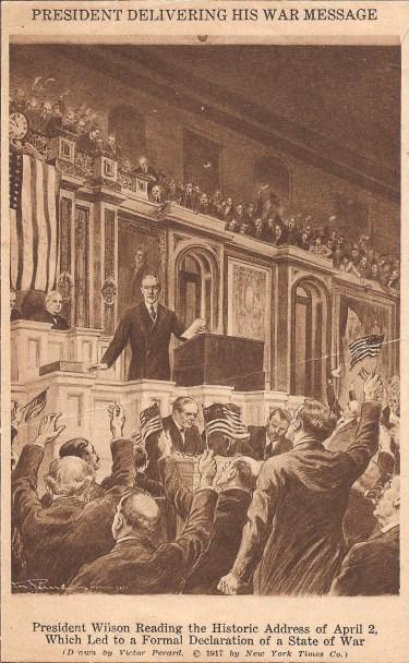 Declaration of War -Wilson Delivering War Message