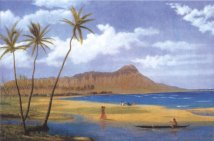 'Diamond_Head_from_Waikiki',_oil_on_canvas_painting_by_Enoch_Wood_Perry,_Jr.,_c._1865