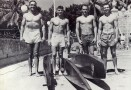 Dickie Cross (second from right), Waikiki, 1943