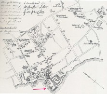 Downtown_Honolulu-Map-noting Robinson Wharf-1843