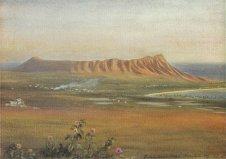 Edward_Clifford_(1844-1907)_-_'Diamond_Head,_Honolulu',_watercolor_painting,_1888
