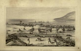 Edward_T._Perkins,_Rear_View_of_Lahaina,_1854
