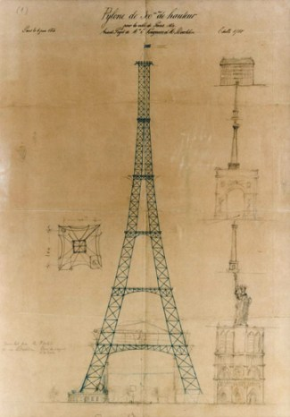 Eiffel's chief engineer came up with the original concept in 1884