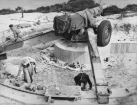 Example of 155mm gun (not specifically at Battery Wailea)-1943