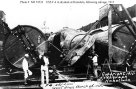 F-4 (SS-23), in drydock at Honolulu, note the large implosion hole in her port side-(navsource-org)-1 September 1915